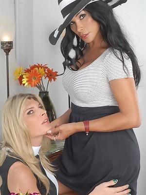Naughty Vaniity playing with T-girl Angelina